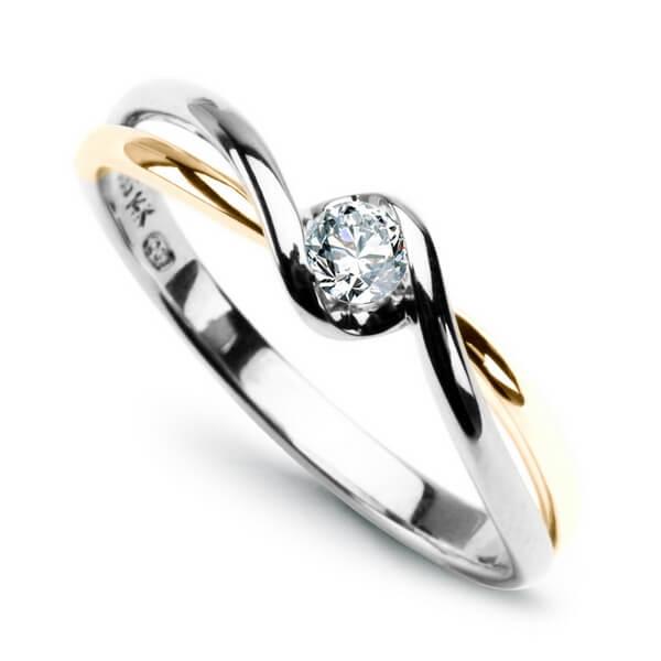 Zásnubní prsteny - Prsteny s diamantem PXD1943Y - 1